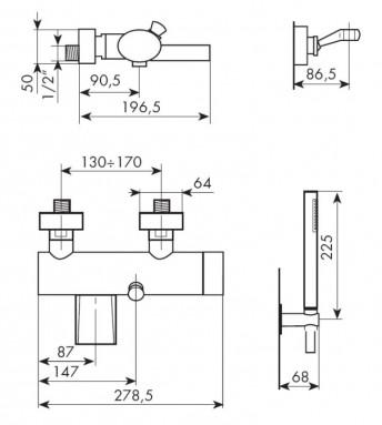MISCELATORE ESTERNO VASCA COD. 8101-B - SCHEDA TECNICA