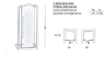 BOX VASCA EURODESIGN COD. BOX-DOC-P80- SCHEDA TECNICA