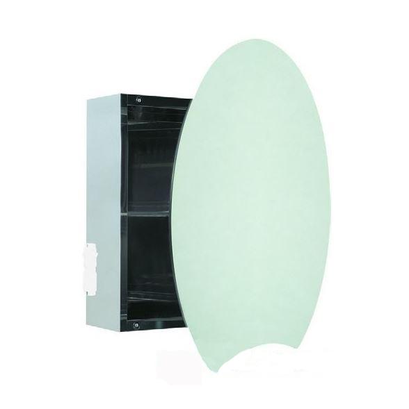Easy specchio contenitore tondo erica casa for Specchio tondo bagno