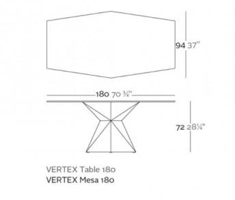 VONDOM VERTEX TAVOLO COD. 51008 SCHEDA TECNICA