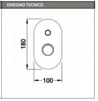 KEFC014 MISCELATORE MONOCOMANDO DOCCIA TECNICO